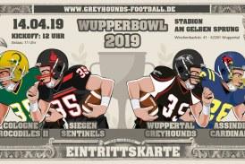Vorabankündigung zum Wupperbowl 2019