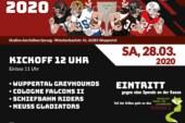 Wupperbowl 2020 – die 8. Auflage